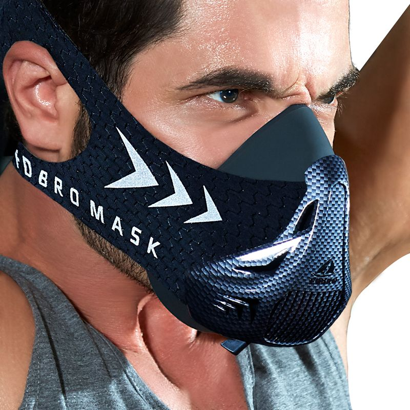 FDBRO sports mask Fitness ,Workout ,Running , Resistance ,Elevation ,Cardio ,Endurance Mask For Fitness <font><b>training</b></font> sports mask 3.0
