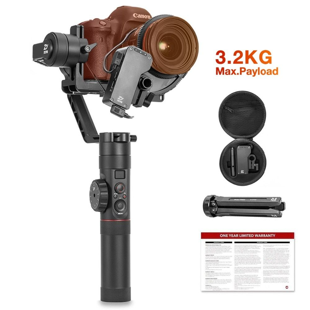 Zhiyun Crane 2 3-Axis Handheld Gimbal Stabilizer with Follow Focus Control for All DSLR and Mirrorless Camera up to 3.2 kg