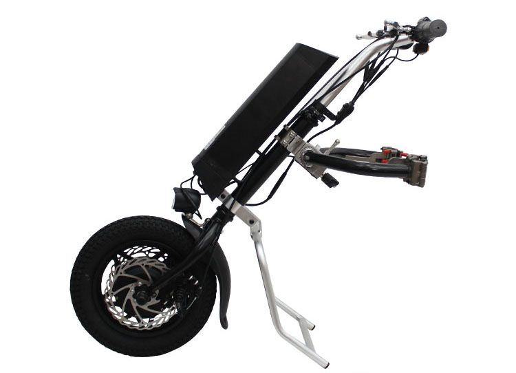 Free Shipping EU DUTY FREE 36V 250W Electric Handcycle Folding Wheelchair Attachment Hand Cycle Bike WheelChair Conversion Kits