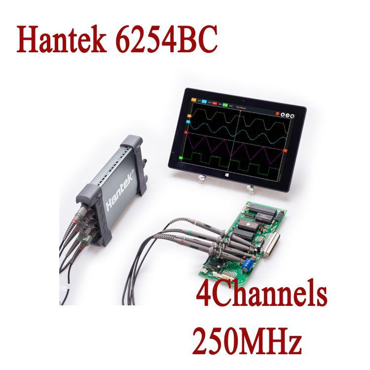 Digital Multimeter Oscilloscope Hantek 6254BC Handheld Oscillograph USB PC 4 Channels 250MHz 1Gsa/S osciloscopio Car-Detector