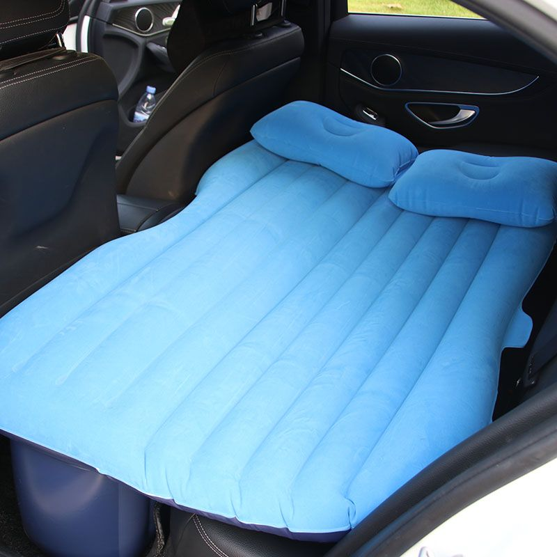 Car Inflatable Mattress - Seat Travel Bed Air Bed Cushion Outdoor Travel Beds Sofa with Pump Camping Moisture-proof Pad