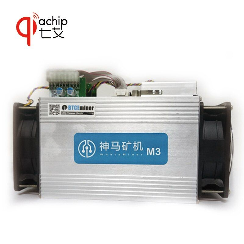 QiaChip Miner WhatsMiner M3+PSU 11.5TH/S 0.17 kw/TH better than Antminer S9 With PSU BTC BCH miner Asic Bitcoin