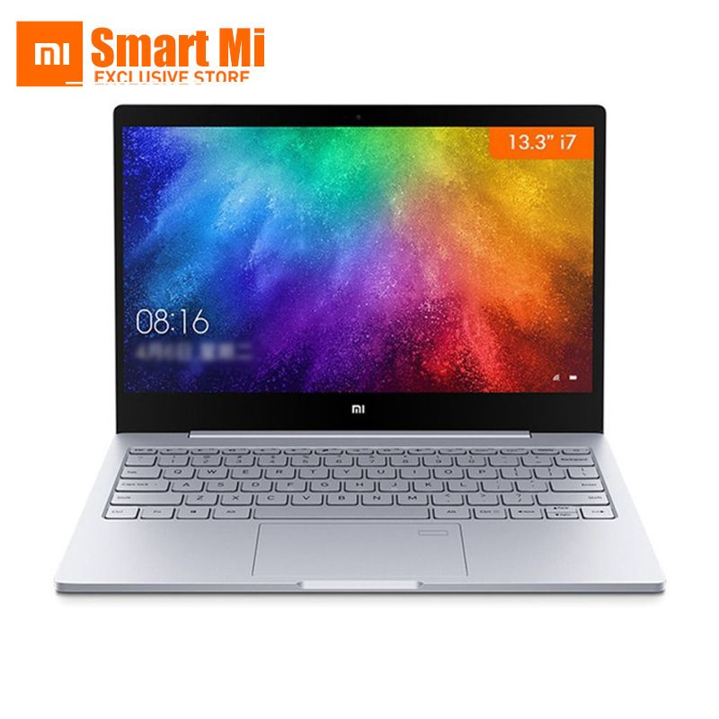 13.3 inch Xiaomi Mi Laptop Notebook Air Original Intel Core i7-7500U 8GB DDR4 Fingerprint Recognition FHD Display Windows 10