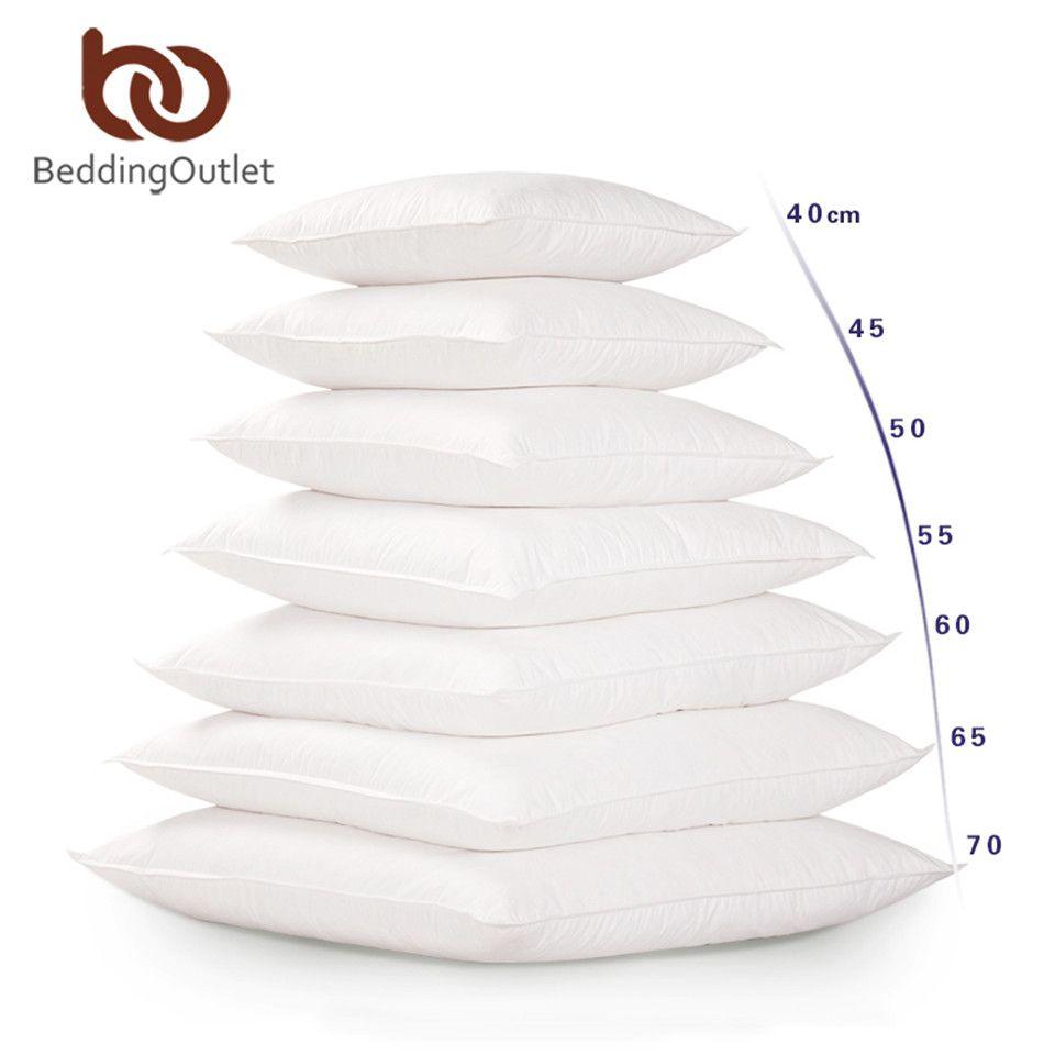 BeddingOutlet Blanc Coussin Insérer Souple PP Coton pour Voiture Canapé Chaise Coussin Core Intérieure Siège Coussin De Remplissage Tailles 40-65 cm
