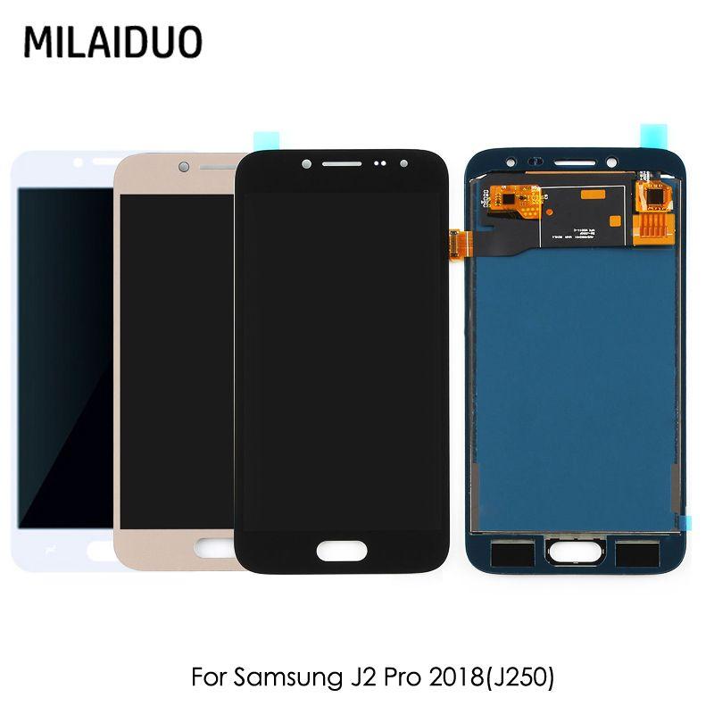 LCD Display Für SAMSUNG Galaxy J2 Pro 2018 J250 J250F J250H J250M Touchscreen Digitizer Einstellbare Helligkeit Montage
