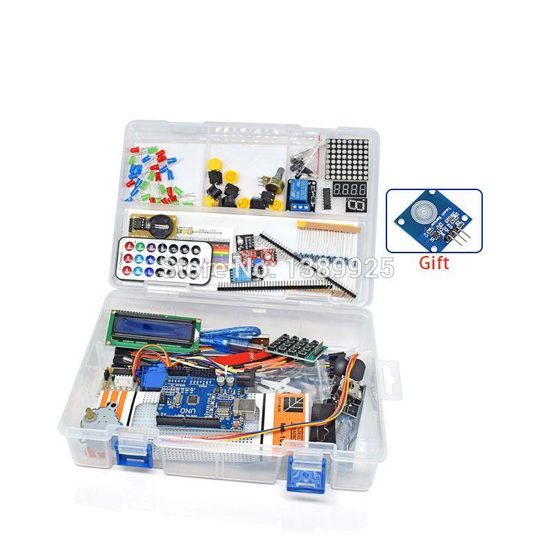 Avec la Boîte de Détail RFID Kit de Démarrage pour Arduino UNO R3 version Améliorée Suite E-learning En Gros