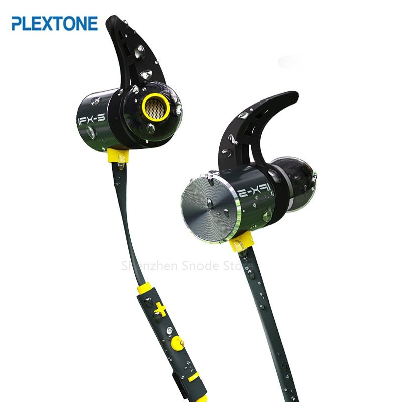 Plextone BX343 Wireless <font><b>Headphone</b></font> Bluetooth IPX5 Waterproof Earbuds Magnetic Headset Earphones With Microphone For Phone Sport
