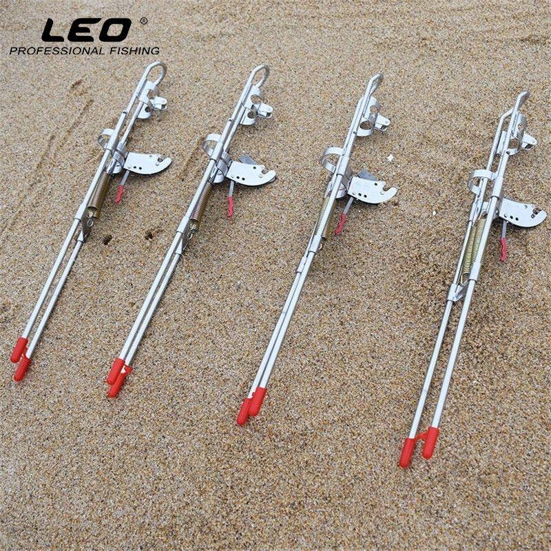 LEO porte-canne à pêche automatique haute résistance amélioré Double ressort épaissi en acier automatique support pour mât de pêche outil de pêche