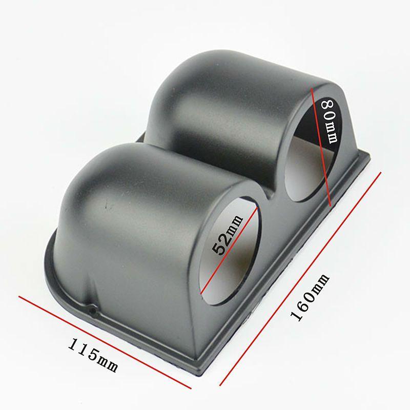 2INCH  52MM  Firm plastic Black 2 HOLES GAUGE PODS GAUGE HOLDERS AUTO GAUGE WATER TEMP GAUGE PODS FREE SHIPPING