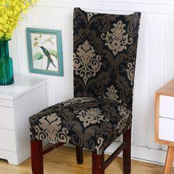 Spandex Extensible Couverture De Chaise De Fleur Impression Amovible Anti-sale Chaise Couvre les Feuilles des Plantes Fleur Motif Housses de Chaise