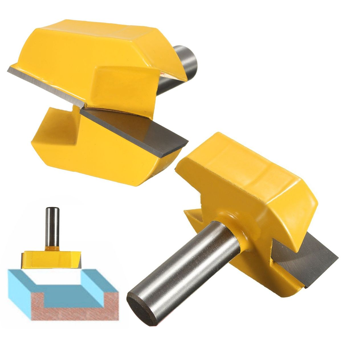 1pc Durable Mayitr CNC Carbide Alloy Woodworking Milling Cutter Straight End 1/2 Shank 2-1/4 Dia Bottom Cleaning Router Bit