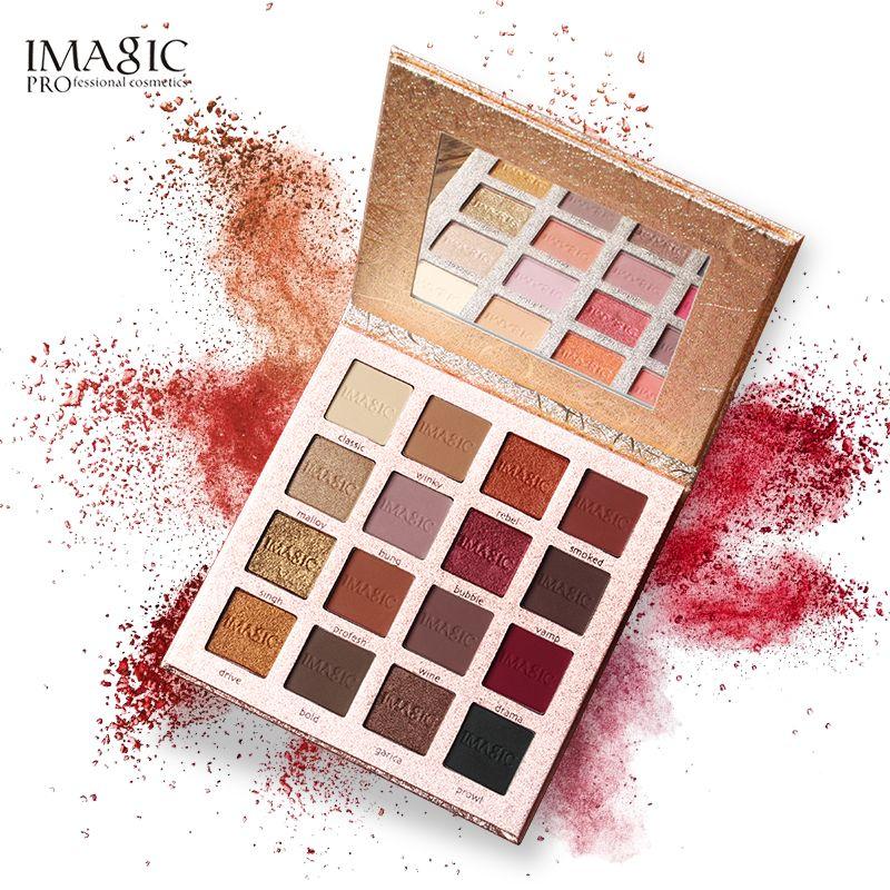 IMAGIC nouveauté charmante Palette de fard à paupières 16 couleurs maquillage Palette mat miroitant pigment ombre à paupières poudre