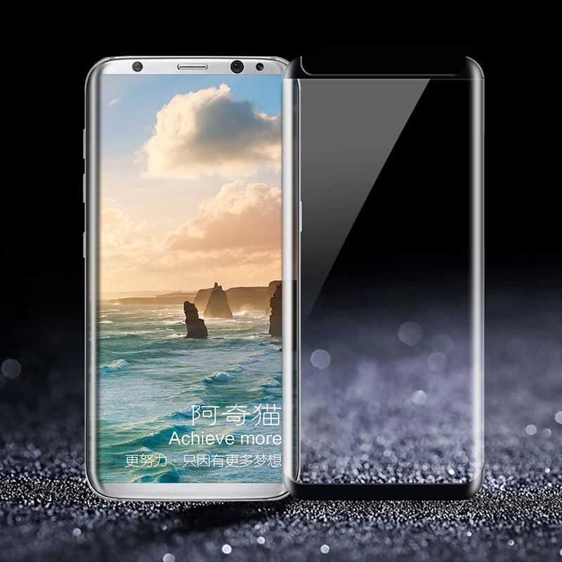 3D Full Adhesive Tempered Glass For Samsung Galaxy S8 Plus Note 8 S8 Screen Protector Full Glue Leather Case Version Film Glass