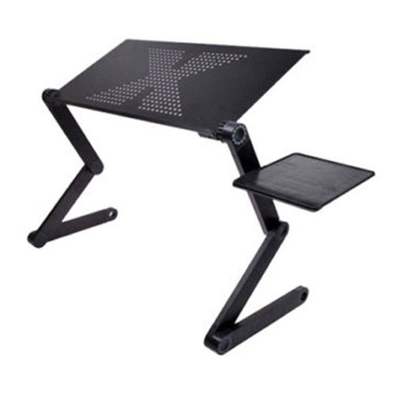 Portable pliable table pliante réglable pour bureau d'ordinateur Portable Ordinateur mesa para cahier Plateau de Support Pour Canapé-Lit Noir