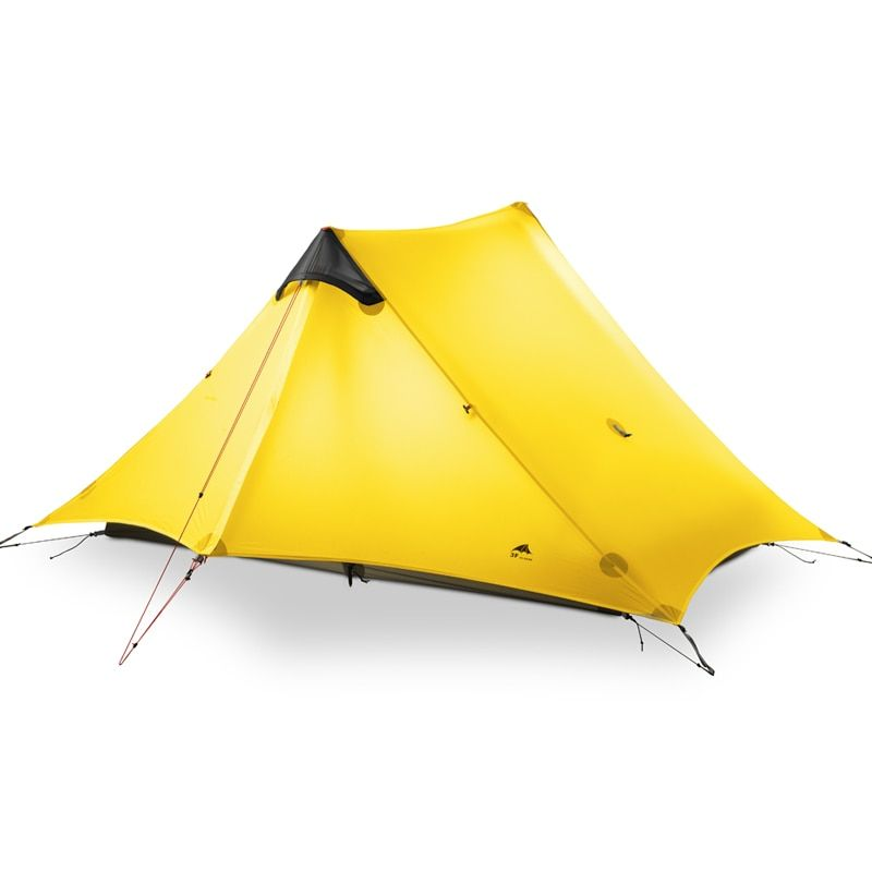 2018 LanShan 2 3F UL GEAR 2 Person Oudoor Ultralight Camping <font><b>Tent</b></font> 4 Season Professional 15D Silnylon Rodless <font><b>Tent</b></font>