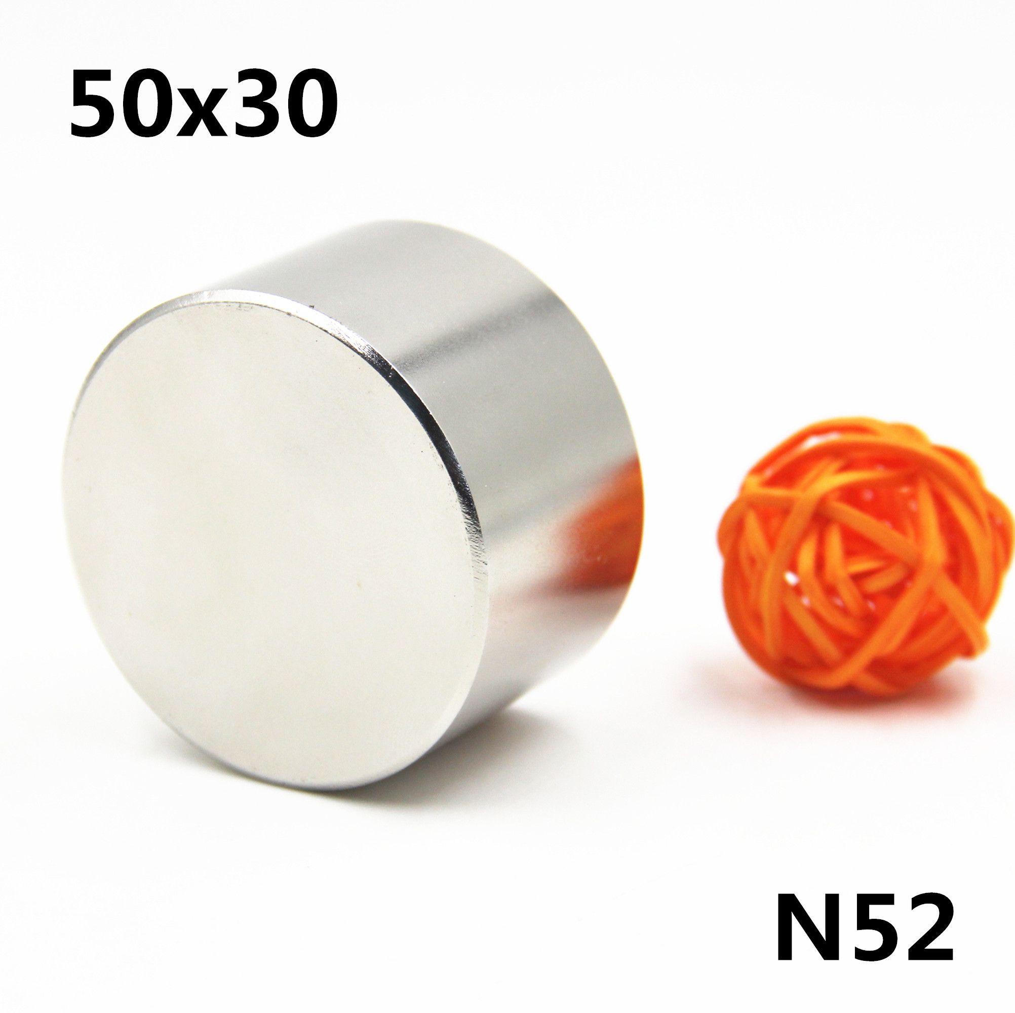 1 pcs/lot N52 Dia 50x30mm aimant rond chaud aimants forts aimant néodyme terre Rare 50x30mm en gros 50*30mm