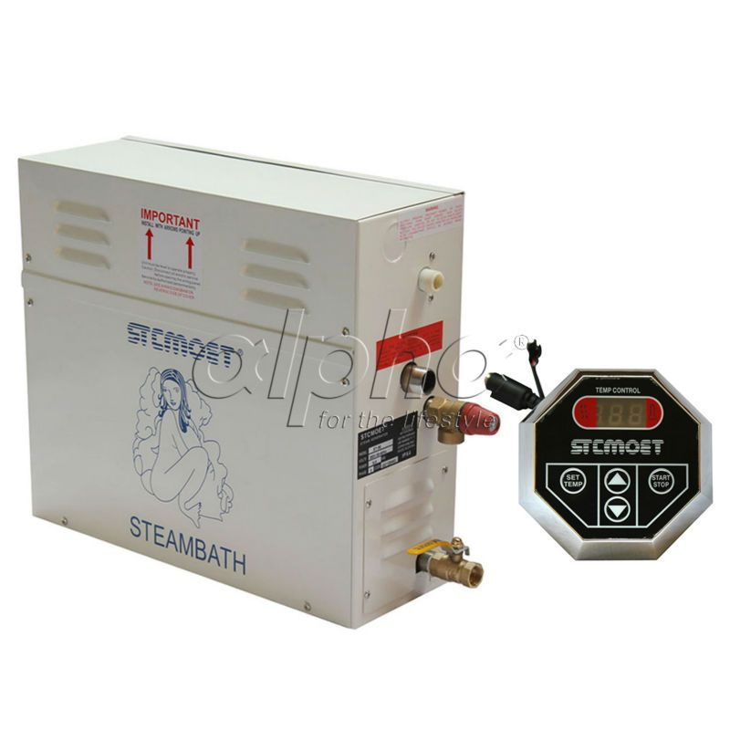 Free shipping Ecnomic type 9KW 220-240V Steam Generator Sauna Bath SPA Shower with ST-135M controller, Stable performance
