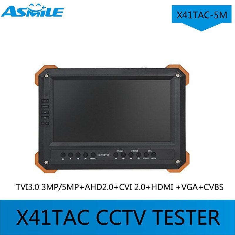 2017 7inch X41TAC -5M CCTV TESTER TVI3.0 3MP/5MP+AHD2.0+CVI 2.0+HDMI +VGA+CVBS from asmile