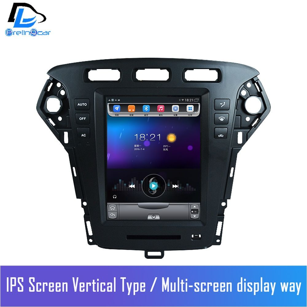 32G ROM android navigation system vertical radio stereo player in dash for Ford Mondeo car multimedia player 2011-2013 years