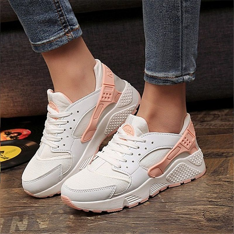 2017 moda entrenadores sneakers mujeres casual Zapatos Air Mesh grils cuñas lona Zapatos mujer tenis feminino zapatos mujer No Logo