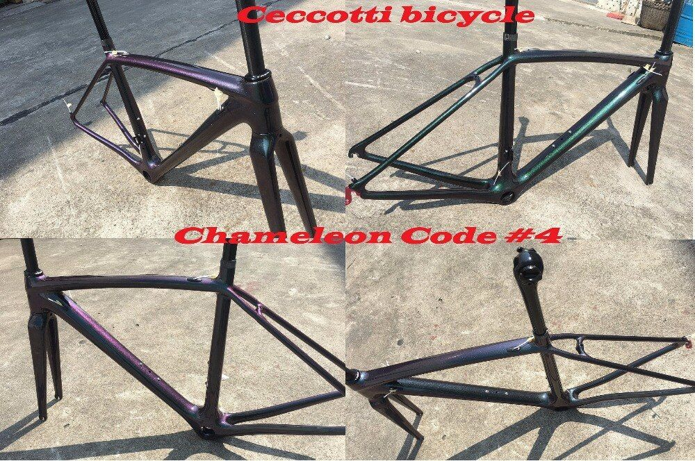 2018 NEW Chameleon colorcarbon road bike frame full carbon bicycle frameset cycling frames can diy color super light frame