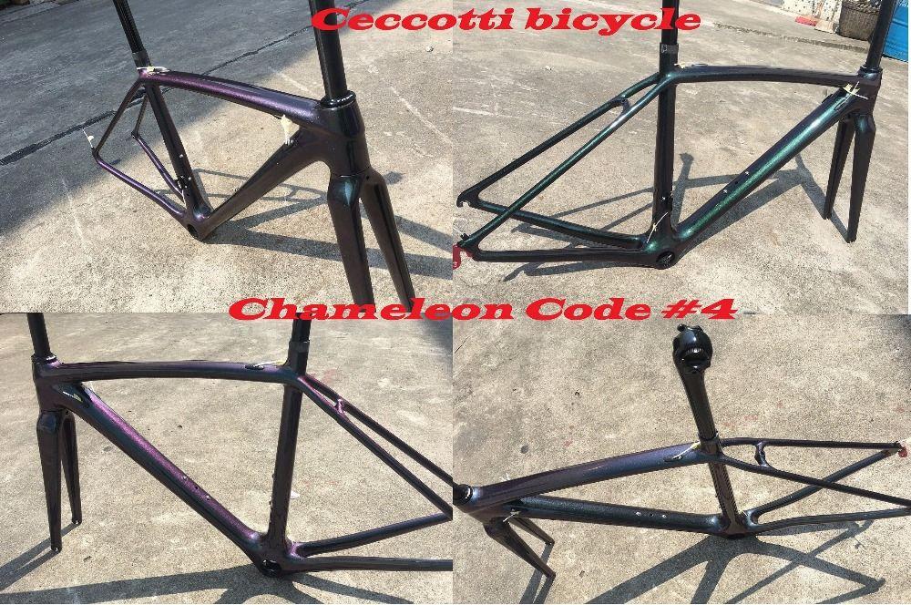 2018 NEW Chameleon colorcarbon road bike frame full carbon bicycle frameset cycling frames can diy color super light frame