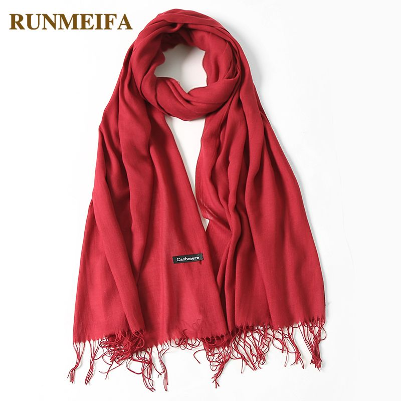 2018 classic spring/summer scarves for women thin shawls and wraps fashion solid female hijab stoles pashmina cashmere foulard