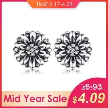 JewelryPalace Vintage Flower Cubic Zirconia Earrings 100% 925 Sterling Silver Brand New Jewelry Accessories gift