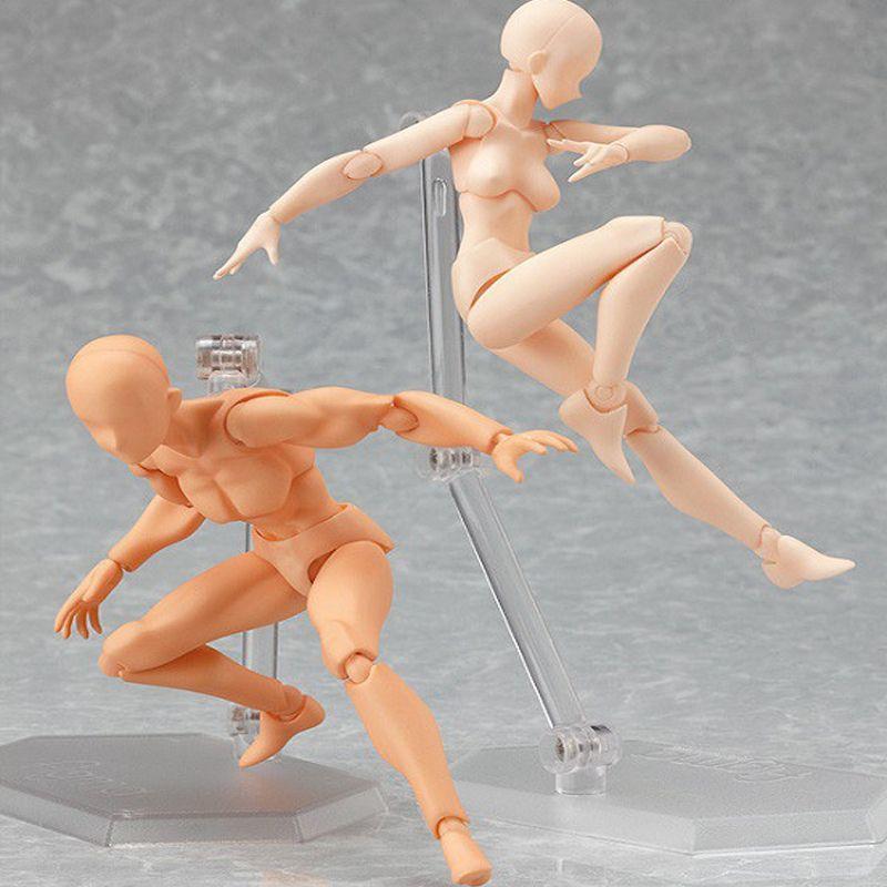 Figurine d'anime Jouets Artiste Membres Mobiles Mâle Femelle 13 cm organe commun Modèle Mannequin Art Croquis Dessiner kawaii D'action chiffres