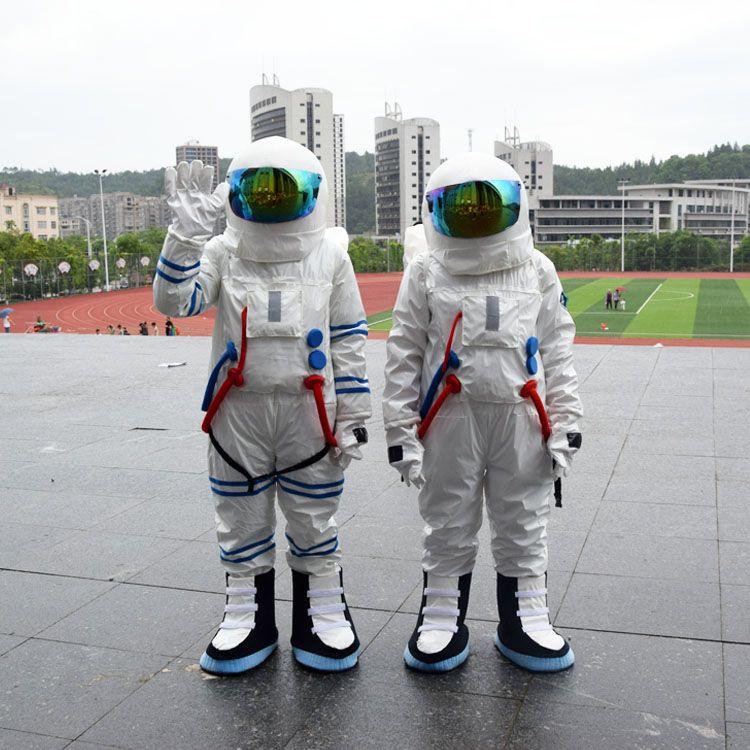 2017 Vente Chaude! L'espace de haute Qualité costume de mascotte Astronaute costume de mascotte avec Sac À Dos gant, shoesfree expédition