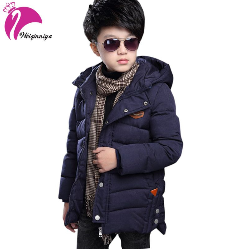 2018 Winter Children Jacket&Coat For Boys New Arrivals Fashion <font><b>Hooded</b></font> Outwear Kids Down Coat Padded-Cotton Boy Clothes Outwears