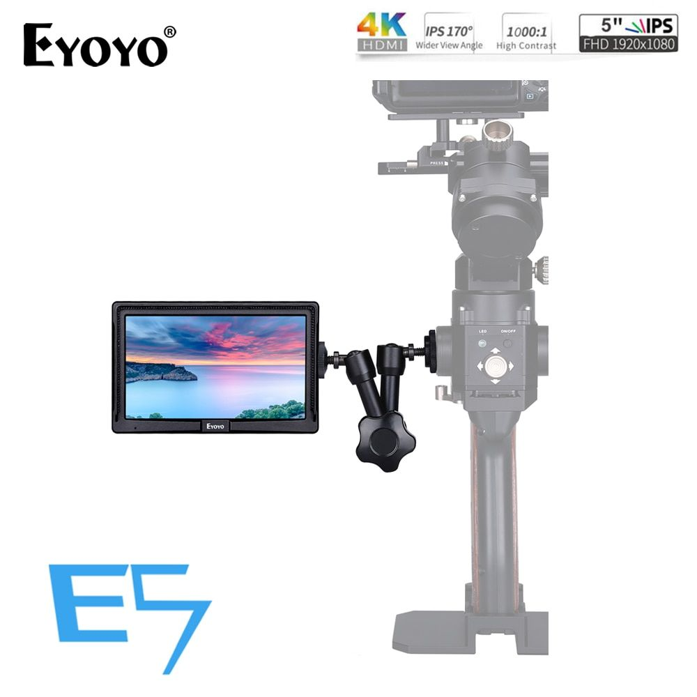 Eyoyo E5 5 Inches 1920x1080 Mini Field IPS Video Monitor DSLR On-Camera monitor 4K HDMI IN OUT for Gimbals Stabilizer