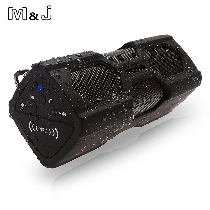 M & J PT-390 новый открытый Водонепроницаемый Беспроводной Bluetooth 4.0 NFC Динамик стерео Зарядное устройство Функция 3600ma Запасные Аккумуляторы для ...