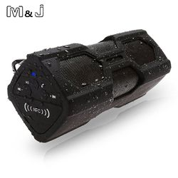 M&J PT-390 New Outdoor Waterproof Wireless Bluetooth 4.0 NFC Speaker Stereo Charger Function 3600MA Power Bank Speaker Subwoofer