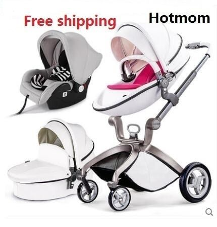 Free Shipping Luxury Baby Stroller High Land-Scape Baby Stroller 3 in 1 Fashion Pram European Carriage