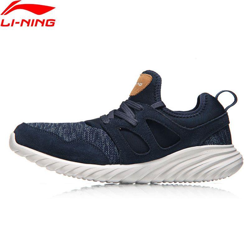 Li-Ning Men Edge Walking Shoes Leisure Light <font><b>Weight</b></font> Breathable LiNing Sport Shoes Sneakers AGCM057 YXB083