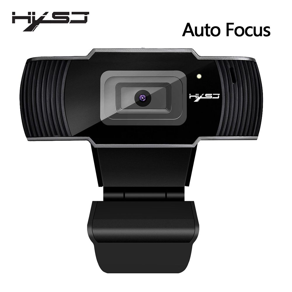 HXSJ neue webcam HD1080P 30FPS auto fokus computer kamera USB sound-absorbieren mikrofon für laptops web cam