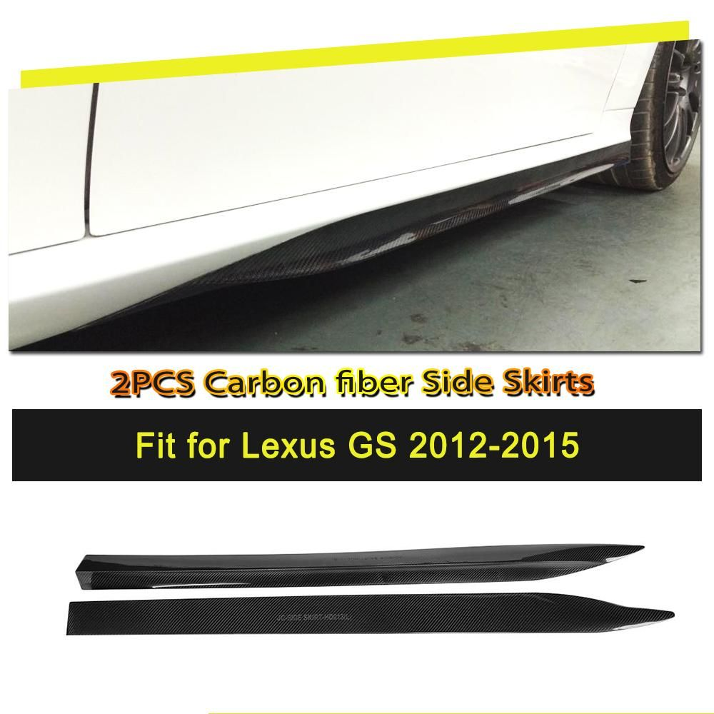 Auto-styling Carbon Faser/FRP Seite Körper Röcke Verlängerung Schürze Kits für Lexus GS F Sport 2012- 2015