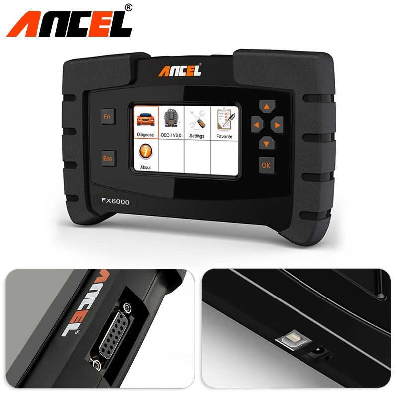 Ancel FX6000 Car All System Diagnostic Tool Reset ABS SRS Transmission DPF Reset EPB OBD2 Scanner Programming Diagnostic Tool