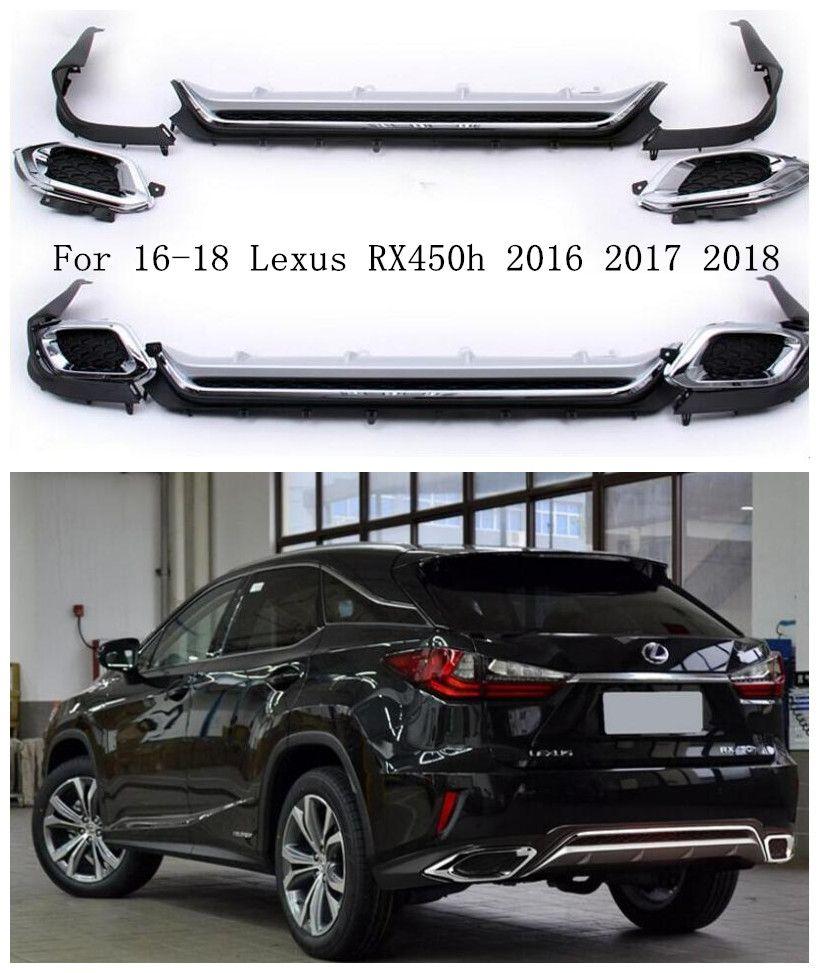 ABS Chrom Auto Hintere Stoßstange Lip, auto Auto Hinten Diffusor 5 teile/satz Passt Für 16-18 Lexus RX450h 2016 2017 2018 DURCH EMS