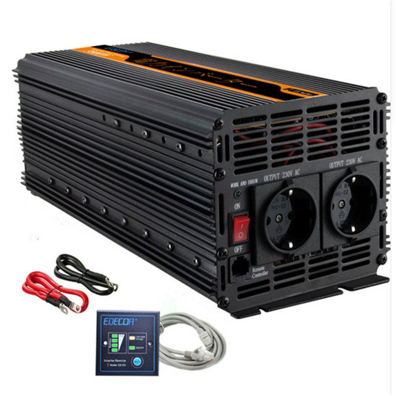 EDECOA power inverter 3000 watt/6000 watt DC 12 v AC 230 v modifizierte sinus welle inverter off grid inverter mit fernbedienung freies schiff
