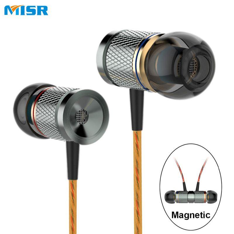 MISR XD3 Filaire In-Ear Écouteurs En Métal Casque Magnétique avec Mic Microphone Stéréo Basse pour Téléphone iphone samsung huawei xiaomi