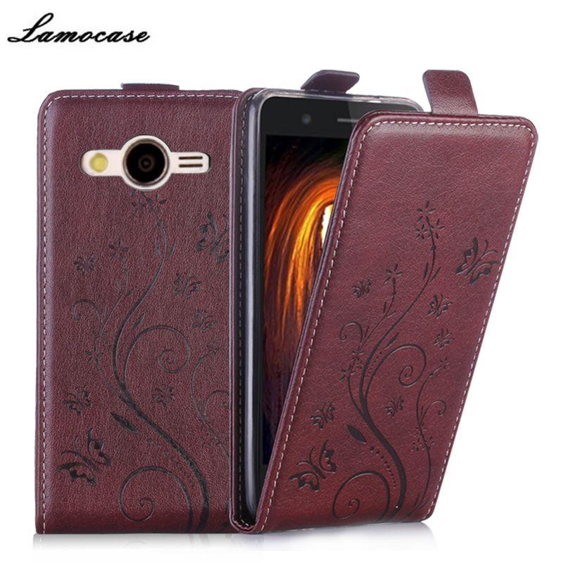 Cas En Cuir de luxe Pour Samsung Galaxy Core 2 Duos SM-G355H/DS G355H G3559 SM-G355H Couverture Téléphone Sacs De Protection Lamocase marque