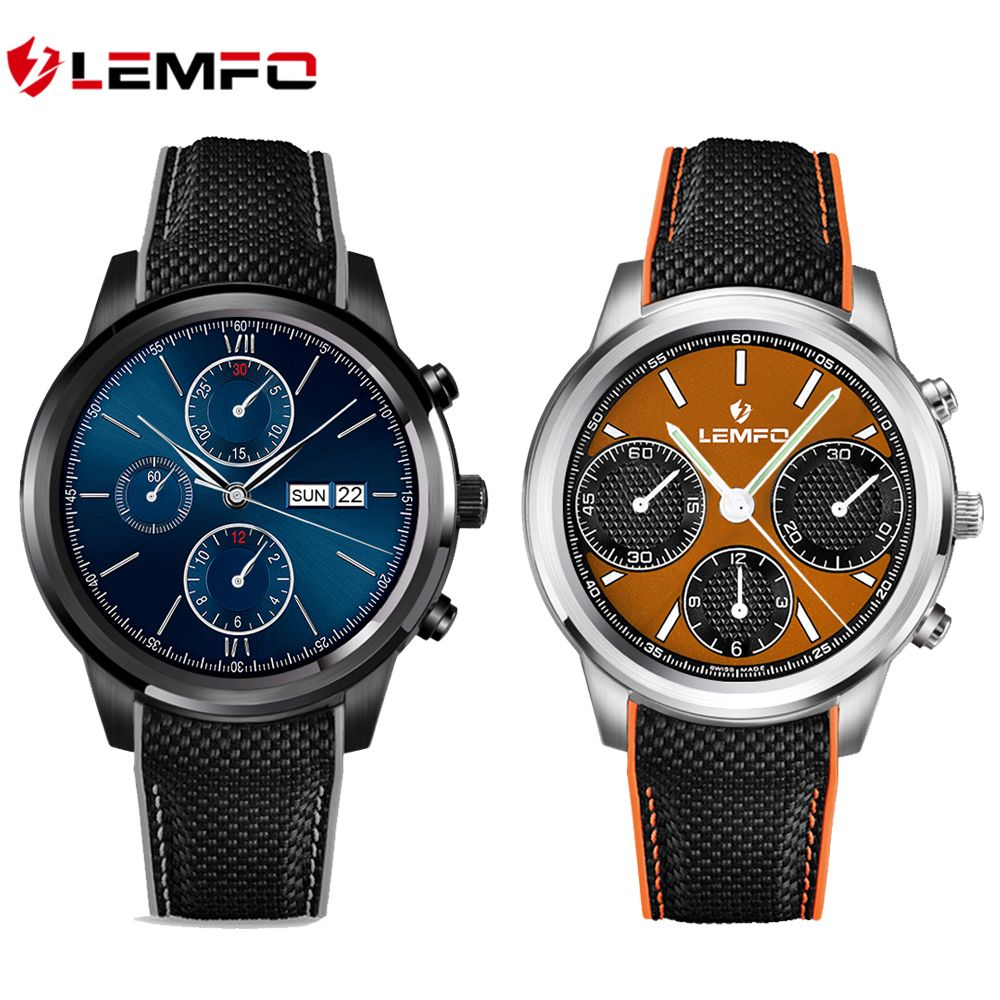 Top 1 Lemfo LEM5 Smart Watch Android 5.1 OS 1.39 IPS OLED <font><b>screen</b></font> 1GB+8GB Support SIM card GPS WiFi Smartwatch For Android IOS
