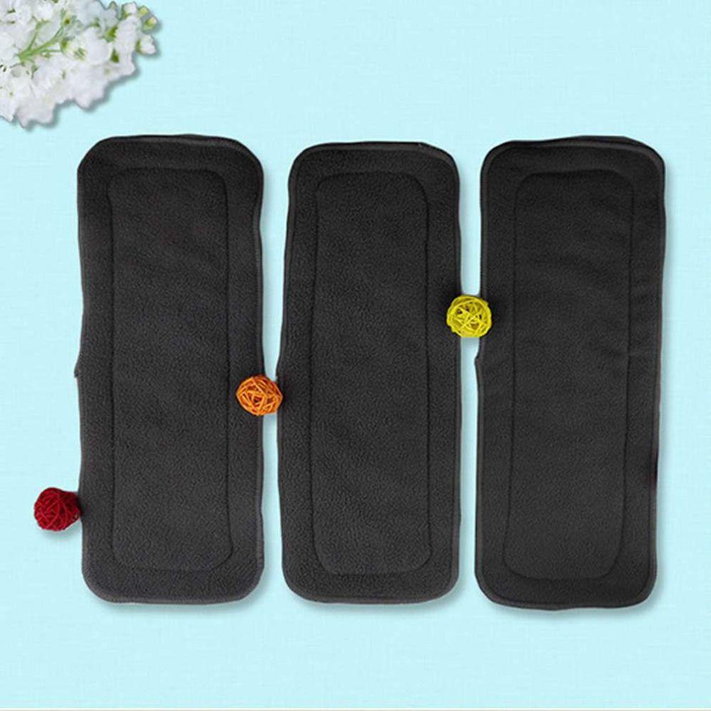 5 unids/set reutilizable 4 capas de carbón de bambú insertar suave del paño del bebé del pañal del panal del uso del agua absorbente del pañal respirable caliente!
