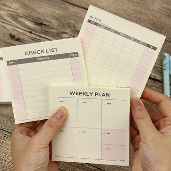 1 шт. милые Kawaii еженедельно ежемесячно планировщик работы Книга Дневник повестки дня Filofax для детей школьные принадлежности
