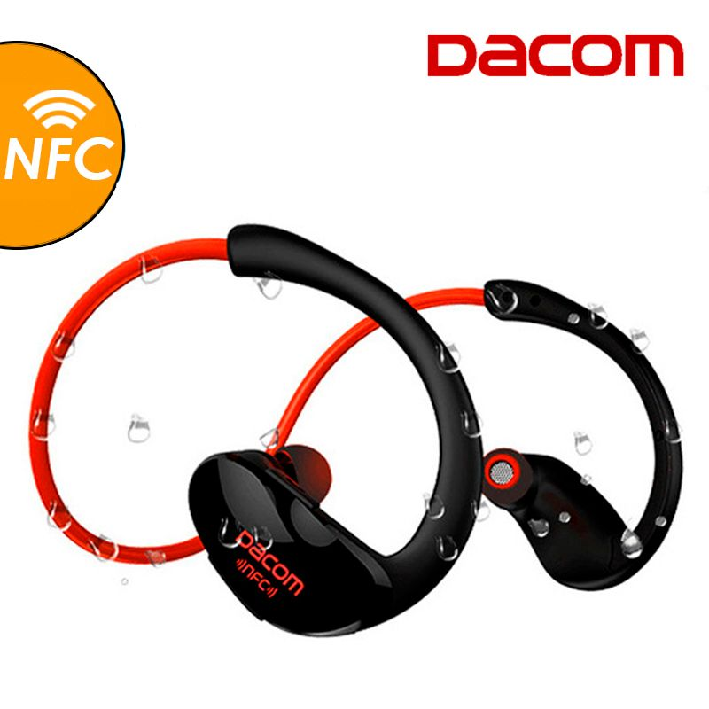Dacom Athlète Bluetooth Casque Sans Fil Casque BT4.1 Sport Stéréo Écouteurs avec HD Mic NFC auriculares pour iPhone Samsung