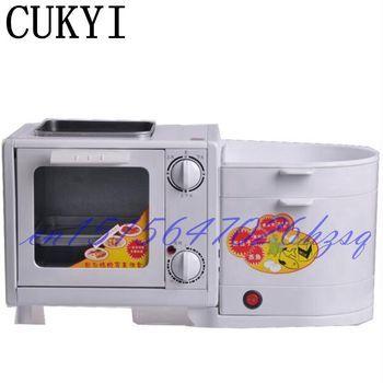 CUKYI 5L Mini Four in one breakfast machine Electric Oven&Steamer&Flambe pan&Boiling Breakfast maker Multifunctional mechanical