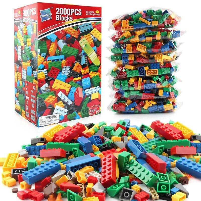 2018 NEW LegoINGS 2000 Pieces Building Blocks Sets City DIY Creative Friends House Figures Bricks Educational Toys for Children