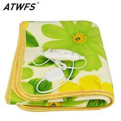 ATWFS безопасность одна кровать плюшевое электроодеяло электрическая кровать Отопление Одеяло подогреватель тела ковры подогреваемый ковер...